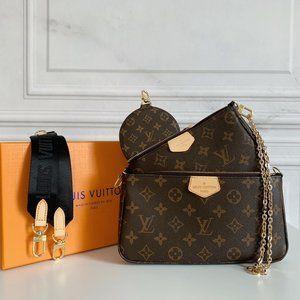 NWT🌽LouisVuitton 🌽women's Black Multi  Bag